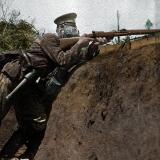 Български воин в окоп