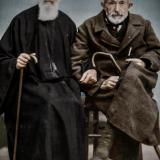 Отец Димитър Мавров и Салих Мюдеризов