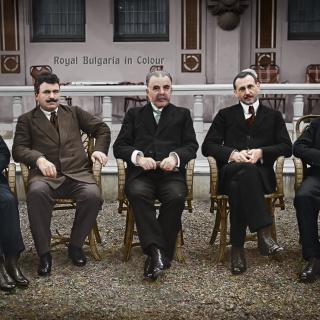 Българската делегация в Ньой